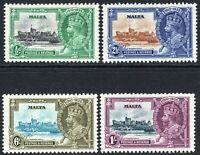 Malta1935 Silver Jubilee set perf 11X12 unmounted mint SG210/211/212/213 (4)