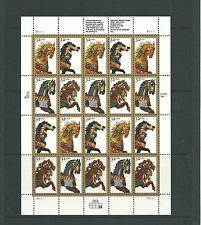 USA 1994 Carusel Horses sheetlet SG3085-8x5 mnh, Cat.£22+