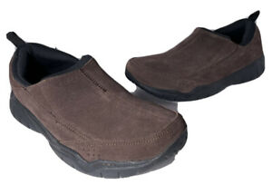 Crocs Mens Swifwater Leather Suede Moc Slip on Shoe Men Size 9 No INSOLES