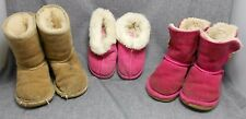 Ugg Australia Kid's Chestnut Classic - Pink Bailey Button - Boots Size 10