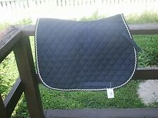 Black All Purpose Quilted Saddle Pad New English Full Size