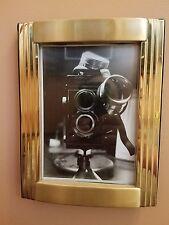 Original Photo of a Twin Reflex Camera w/Steampunk Goggles Gold Art Deco Frame