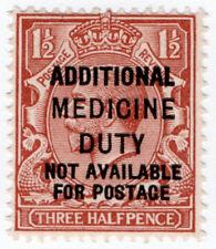 (I.B) George V Revenue : Additional Medicine Duty 1½d
