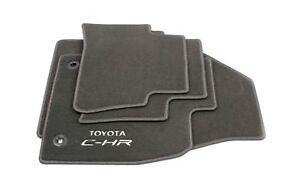 Genuine Toyota C-HR Car Textile Floor Carpet Mat Set Anthracite New OE CHR 2WD