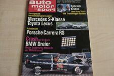 1) Auto Motor und Sport 15/1991 - Wirklich sicher? BMW  - Mercedes 400 SE mit 2
