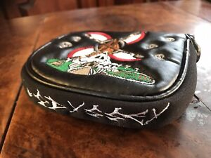 ODYSSEY MALLET PUTTER HEAD COVER GOLF GRIM REAPER SKULLS DAY OF THE DEAD AXES