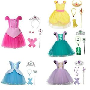 Dressing Up Princess Costumes Fancy Dress Birthday, Party Dress + Accessories