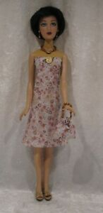 """Made to fit 16"""" ALEX Madame Alexander  #17 Dress, Purse, Necklace & Earrings set"""