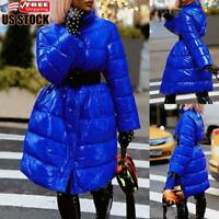 Women's Winter Warm Puffer Long Quilted Parka Ladies Casual Down Coat Jacket