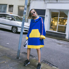 Woman's Harajuku  Long Sleeve Hooded T-shirt Dress Oversize Sweet Lolita Fashion