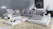 Leder U Form Wohnlandschaft Polster Eckcouch Couch Leder Sofa Ecksofa Eckcouch
