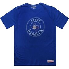 $42.00 Mitchell And Ness Texas Rangers Short Sleeve Tee (royal / cream) 3118A-TR