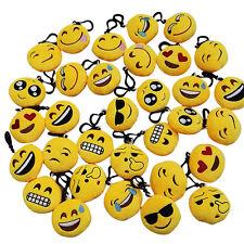 Emoji Smiley Stuffed Plush Toy Key Chain Emoticon Yellow Soft Cushion Keyring FR