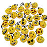 2x Emoji Smile Stuffed Plush Toy Key Chain Emoticon Soft Cushion Keyring up