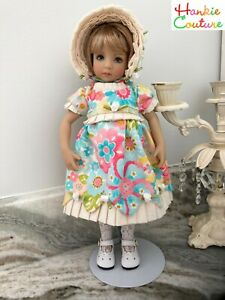 """13 PCS! LITTLE DARLING 13"""" DOLL DRESSES HANDMADE CLOTHES HANKIE COUTURE EFFNER!!"""