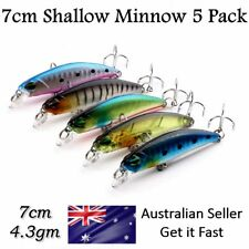 5 Salmon & Bream Fishing Lures Trevally Tailor Flathead Trout Perch Bass Redfin
