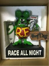 """Used! RAT FINK """"Surf All Day Race All Night"""" Color: Green withOuter box"""