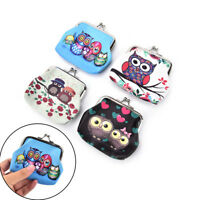 Women Coin Purse Owl Printing Ladies Coin Purse Pocket Coin Pouch Key Credit BR