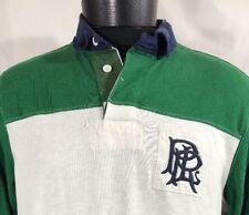 VTG Polo Ralph Lauren Shirt Rugby Scribble Gothic Crest Men's Large Bear Stadium