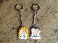 Personalised Birthday Keyring Made To Order Any Age Handmade Keepsake 21st 30th