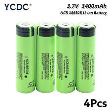 4Pcs Authentic 3.7V 3400mAh NCR 18650B Li-ion Battery With PCB For Flashlight 7
