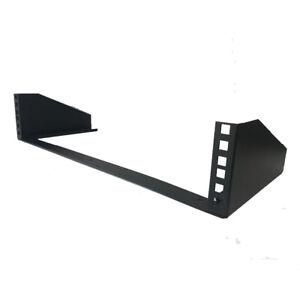 "2U Steel Vertical Wall Mount / Under Desk Rack Bracket (Black) 19"" Application"