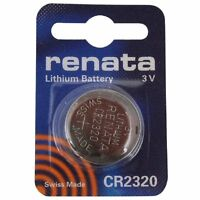 RENATA CR2320 COIN CELL BATTERY   Lithium 3V Watches Cameras Car Keys Torches