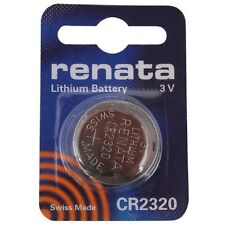 CR2320 Coin Battery Pack Renata Lithium 3V / Watches Cameras Car Keys Torches