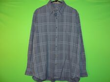Tommy Bahama Mens Size M Medium Blue Plaid Long Slv Pocket Button Shirt