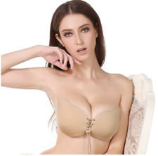 Adhesive Bra, Strapless Backless Invisible Bra Reusable Push Up Silicone Bra E