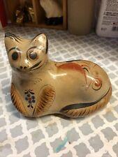 """Tonala Cat pottery Mexican 6 1/2 """""""