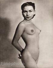 1950 Vintage FEMALE NUDE Asian Oriental FILIPINO Philippines Photo JOHN EVERARD