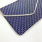 Christian DIOR - 70's - Pochette en toile bleu monogrammée or - Made in France