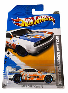 Hot Wheels Dodge Challenge Drift Car - White - Combined Postage Available