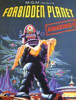 FILM MOVIE FORBIDDEN PLANET ROBOT RESCUE ART PRINT POSTER BB7886