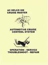 1968-80 CRUISE CONTROL REPAIR MANUAL CHEVROLET PONTIAC OLDSMOBILE BUICK CADILLAC