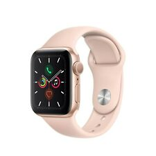 Apple Watch Series 5 GPS Only 40MM Gold Aluminum Case w/Pink Sand Sport Band New