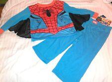 """NEW"" Marvel SPIDERMAN ~ SHIRT & PANTS ~ PJs PAJAMAS 2 Pc Boy's Sz 2T Spider-Man"