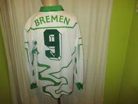 """Werder Bremen Puma Langarm Deutscher Meister Trikot 1992/93 """"DBV"""" + Nr.9 Gr.XL"""