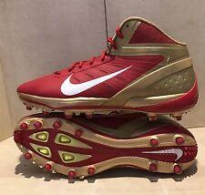 Nike Alpha Talon Elite 3/4 Mid TD Sz 16 Football Cleats 534769-628