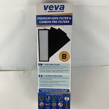 VEVA Advanced Filters Premium Hepa Filter 4 Activated Carbon Pre Filters New