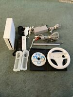 Nintendo Wii System (RVL-001) Bundle W/ Mario Kart - GameCube Compatible