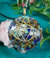 Ultimate Intuition Third Eye Chakra Orgone Pendant: Psychic Ability, Intuition