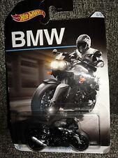 Hot Wheels-Bmw(K1300 R)Series-Motorcycle-Black -Diecast-Mattel 2015-Age3+