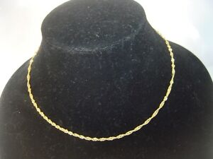 """RARE-LOVLEY BEAUTIFUL SOLID 22 CT GOLD 16"""" NECKLACE BEST QUALITY-HEAVY & STRONG"""