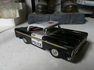 Vintage- Original 1960's Tin Friction Police Car - Made in Japan