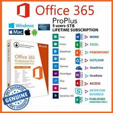 Microsoft Office 365 2019 Lifetime Account For 5 Pcs Mac Win 5TB Cloud Trusted✅