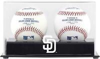 San Diego Padres Two Baseball Cube Logo Display Case - Fanatics