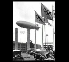 1936 Hindenburg Blimp Over Berlin Olympics PHOTO Airship Zeppelin LZ-129 German