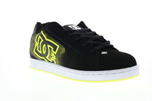 DC Net SE 302297 Mens Black Leather Lace Up Skate Sneakers Shoes
